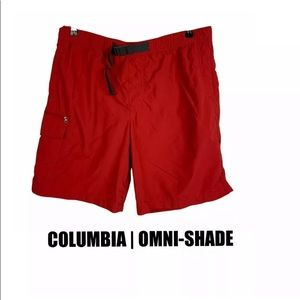 Columbia Mens Red Outdoor Shorts Size Large